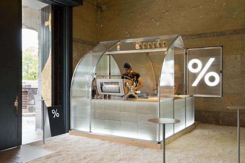 Translucent Coffee Kiosks
