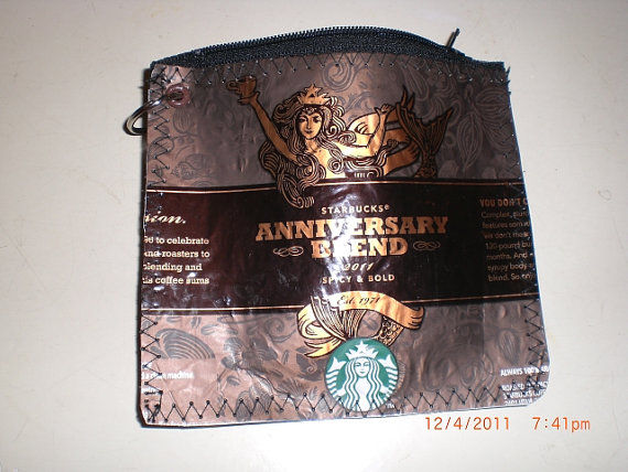Iconic Coffee Brand Purses Coffee Recycled Starbucks