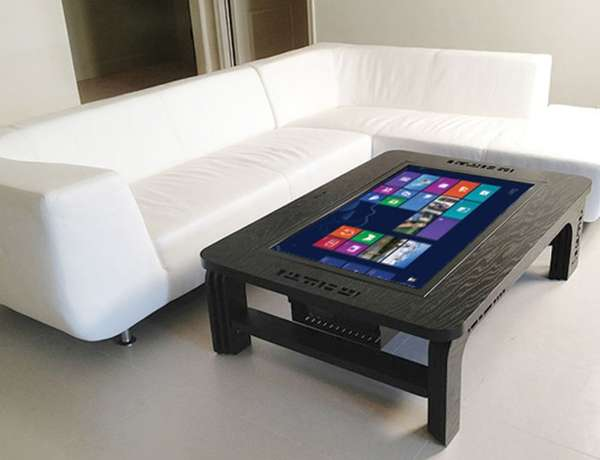 Table top tablets coffee table touch screen for Table basse de salon