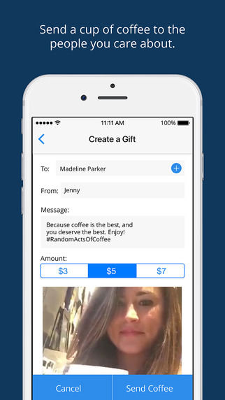 Charitable Coffee-Gifting Apps
