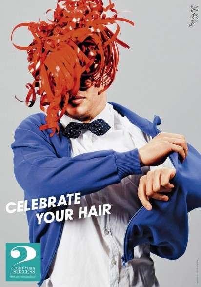 Playfully Artistic Hairstyle Ads