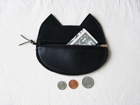 Feline Coin Clutches