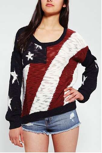 'Coincidence and Chance' Americana Sweater