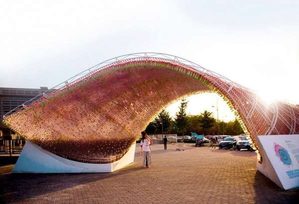 Plastic Bottle Pavilions