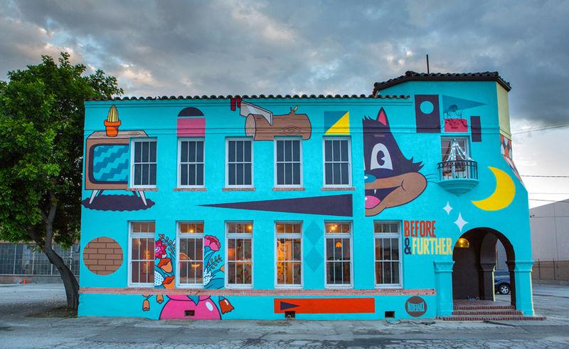 Cartoon-Covered Fun Houses