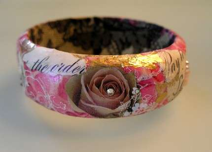 Collage Art Bangles