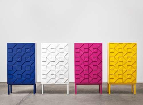 Vibrant Geometric Cabinets