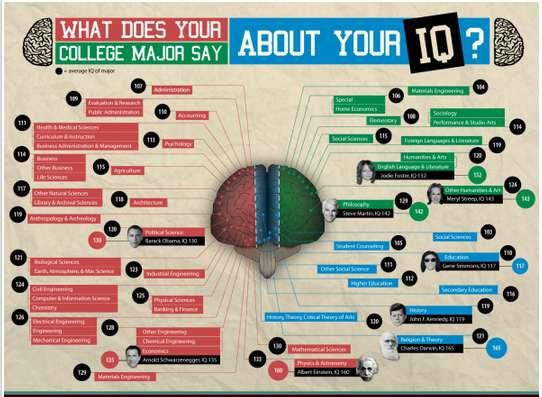 collegiate iq charting infographics   college major