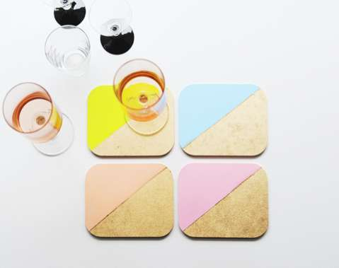 Polychromatic Drink Coasters