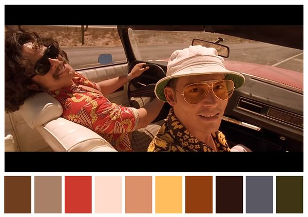 Movie Scene Color Palettes