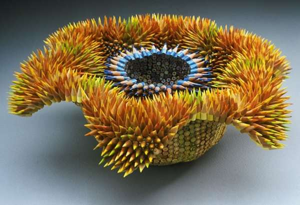 Organic Pencil Sculptures