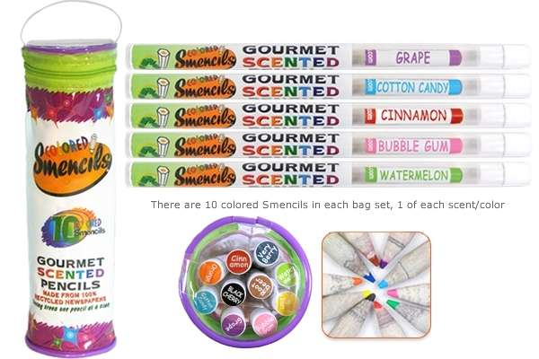 Colored Smencils Scented Pencils