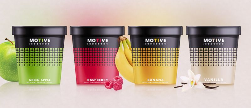 Spotted Yogurt Packaging Colorful Dots