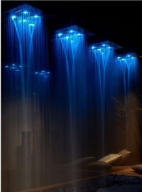 Colorful In Home Rain Showers Gessi Private Wellness