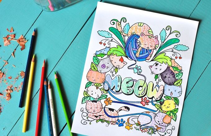 Lazy Cat Coloring Books
