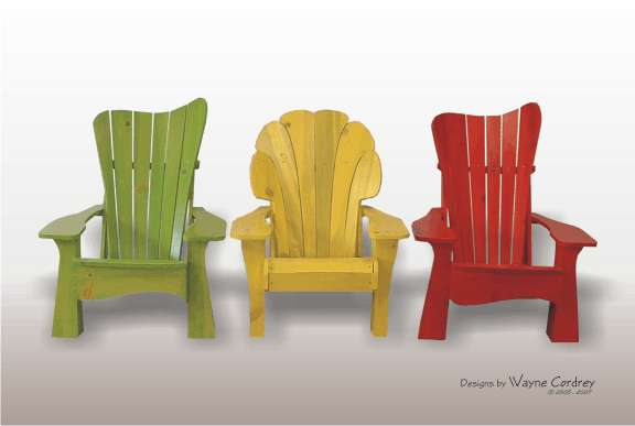 Bright Colorwashed Furniture