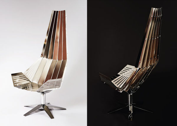 Sharp Metal Chaises