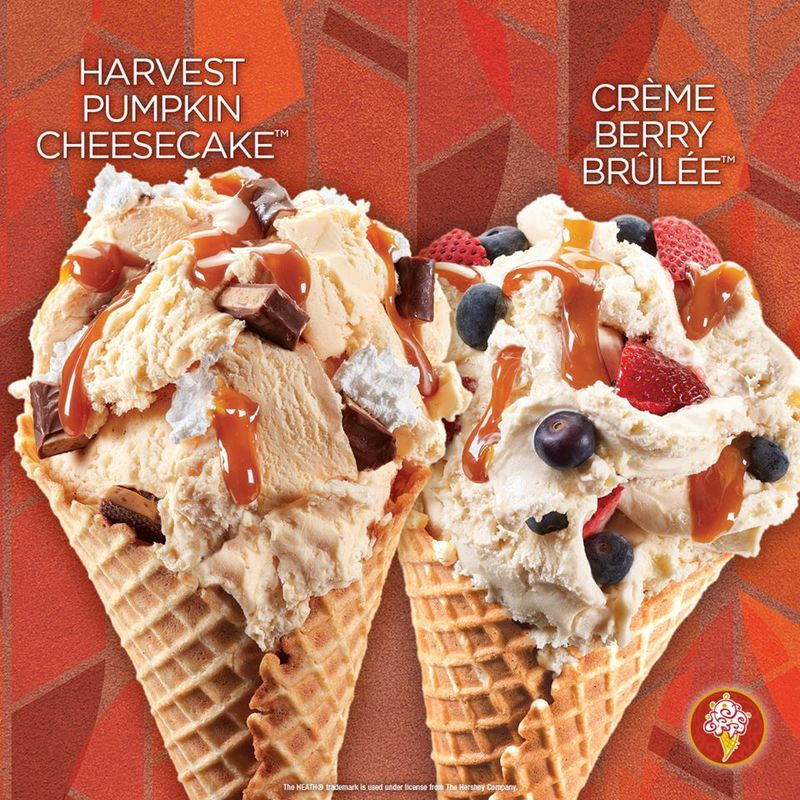 Creamy Pumpkin Ice Creams