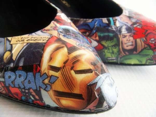 Vivid Superhero Stilettos