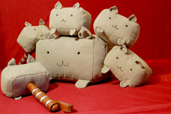 Feline Hammer Pillows