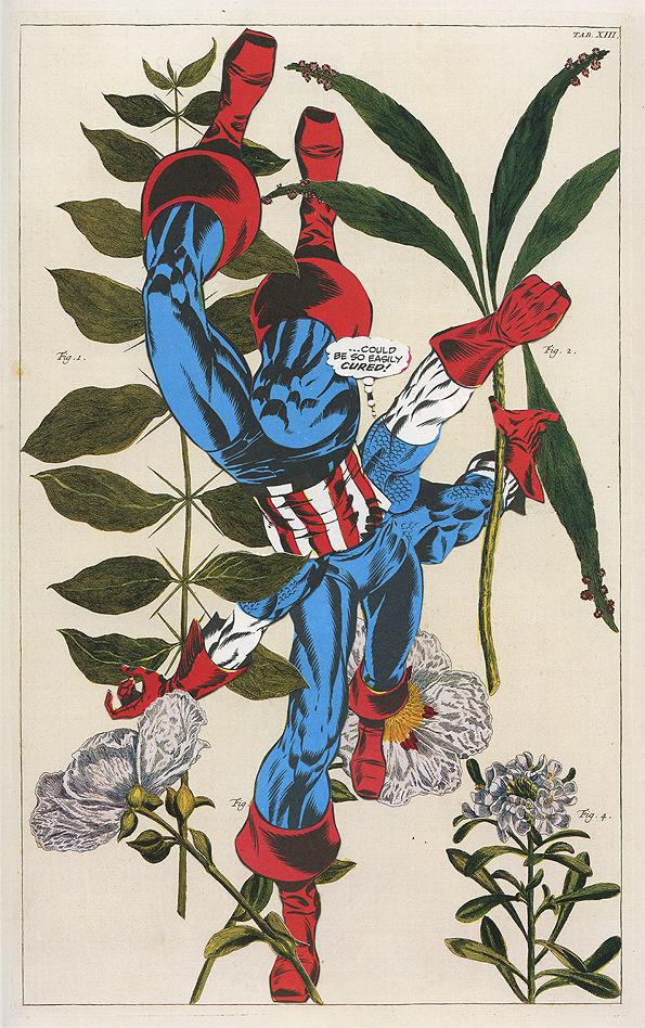 Abstract Superhero Mash-Ups