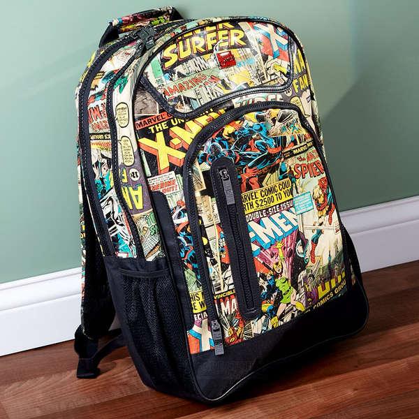 Comic-Encrusted Backpacks