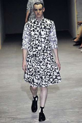 Skull-Covered Mens Skirts