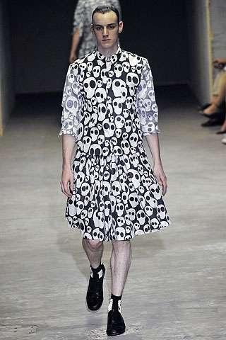 Skull Covered Men S Skirts Comme Des Garcons 2011