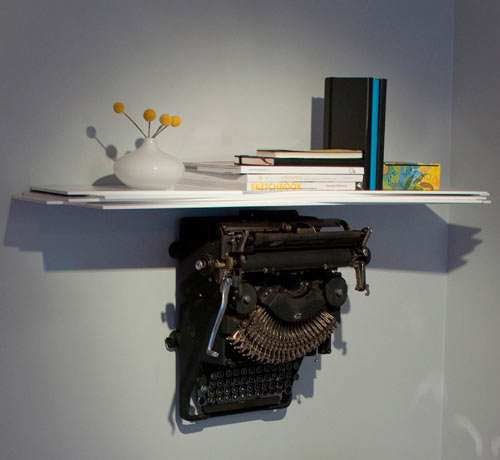 Vintage Typewriter Shelves