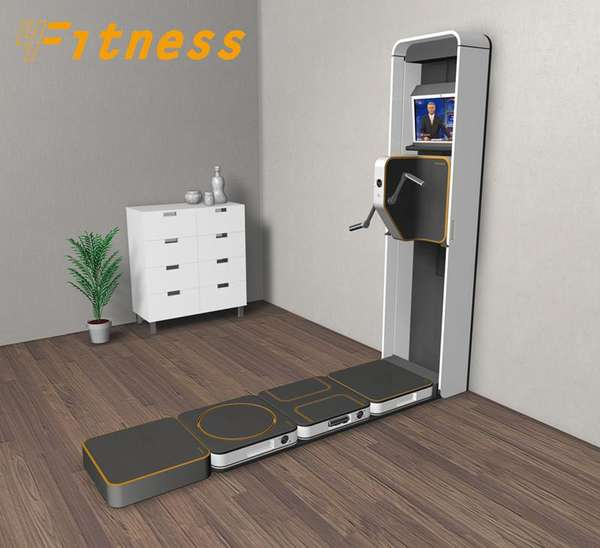 space saving gyms the compact 4fitness home workout centre. Black Bedroom Furniture Sets. Home Design Ideas