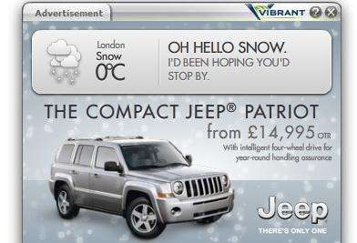 compact jeep patriot ad
