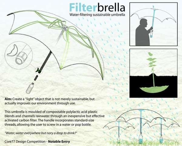Rain Filtering Umbrellas