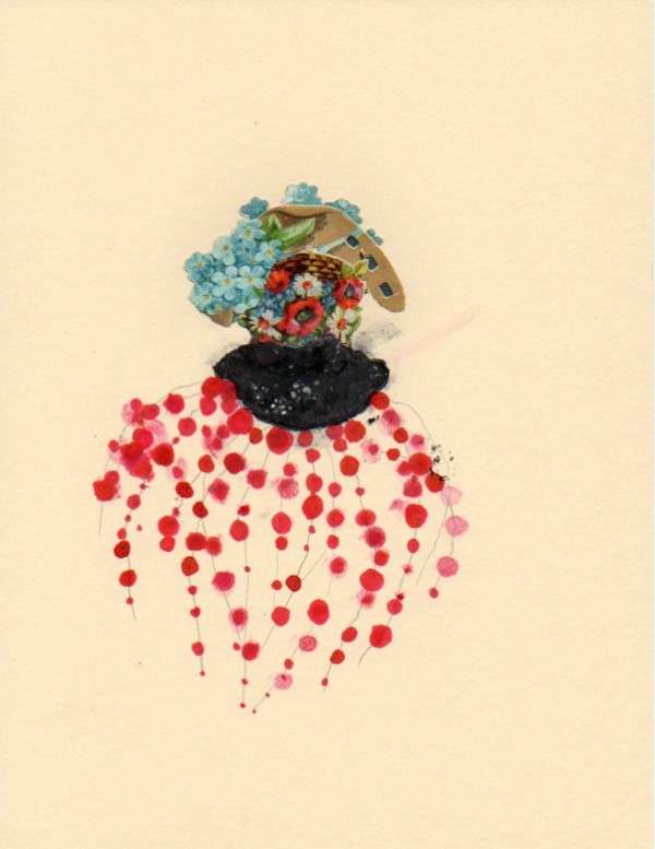 conceptual flower art pieces jenny browns illustrations are colorful abstra