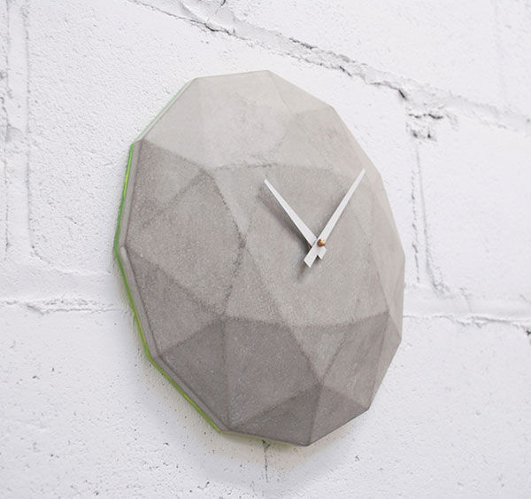 Carved Concrete Clocks