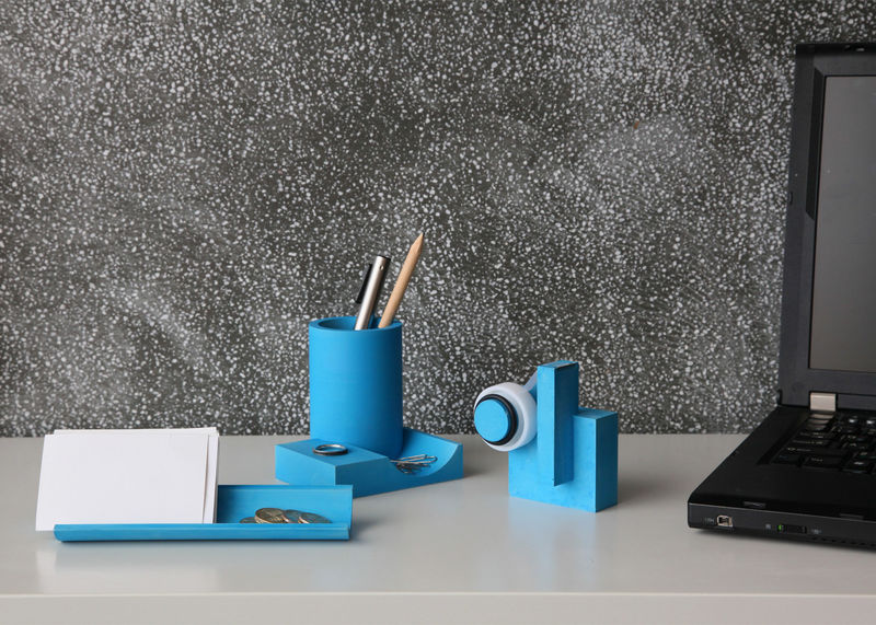 Substantial Cyan Stationery