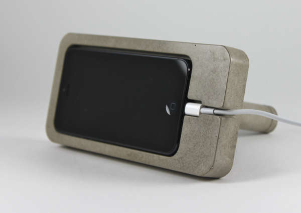 Concrete Smartphone Cradles