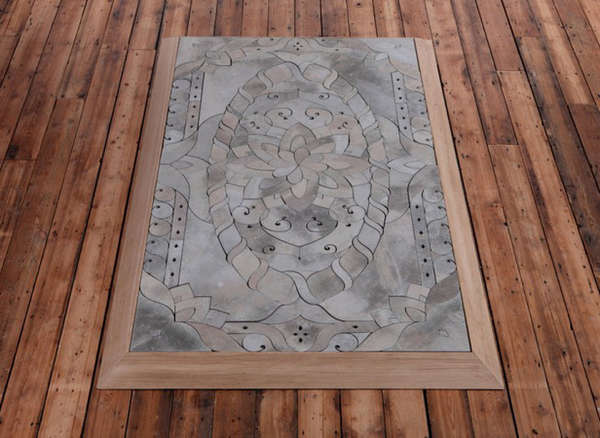 Intricate Cement Carpets
