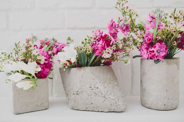 Minimalist Concrete Vases Concrete Vases