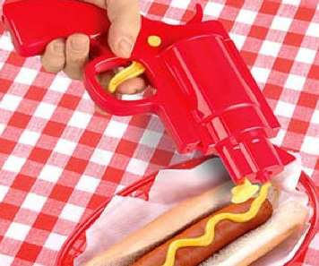 Ammo-Filled Ketchup Shooters
