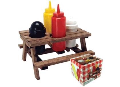 Picnic Table Condiment Stands