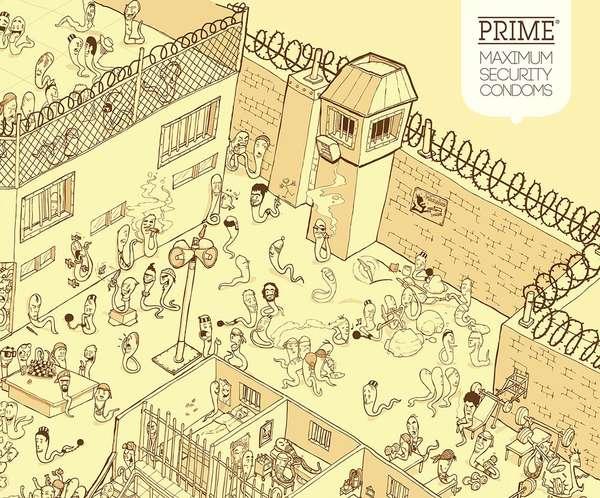 Prison Prophylactic Ads