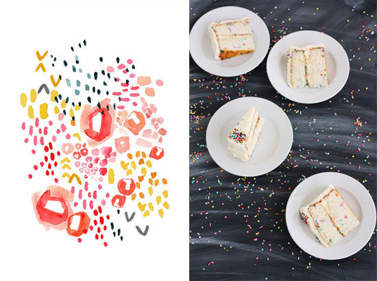 Charming Confetti Cakes