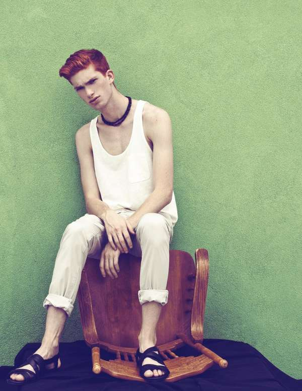 Fire-Haired Lounging Editorials