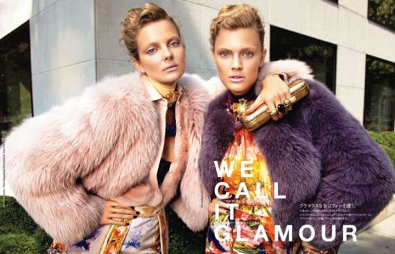 Constance Jablonksi and Eniko Mihalik for Vogue Japan December 2011