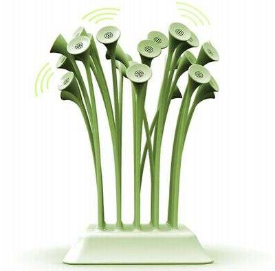 Flower Stem Speakers