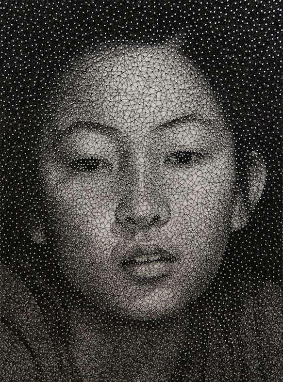 Threadified Facial Portraits