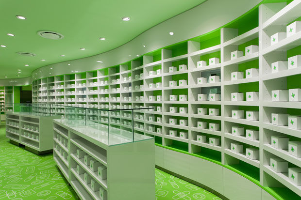 Chromatic Pharmacy Interiors
