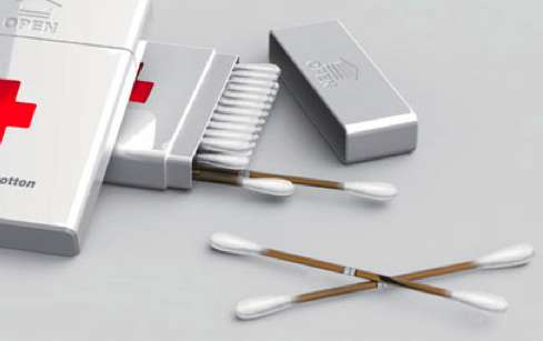 Peroxide-Stocked Swabs
