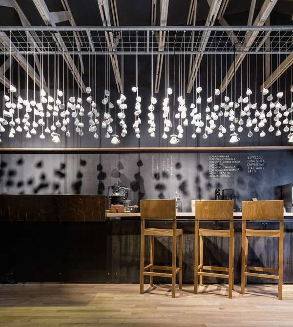 Suspended Coffee Cup Installations Cool Shop