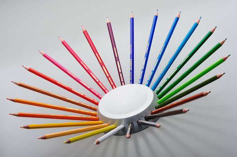 Coloring Pencil Dishware